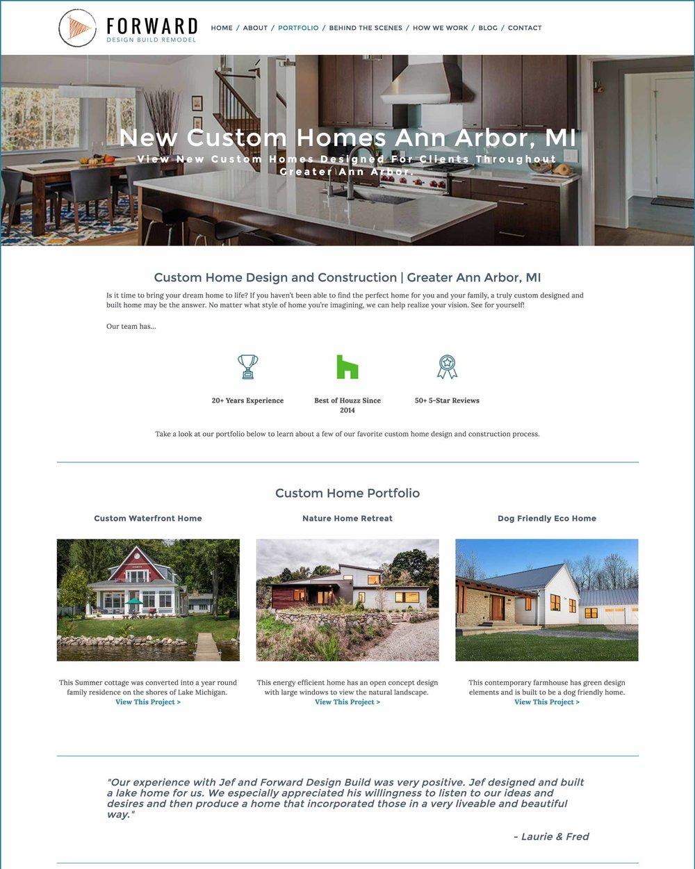 Squarespace Website Design For Forward Design Build Remodel