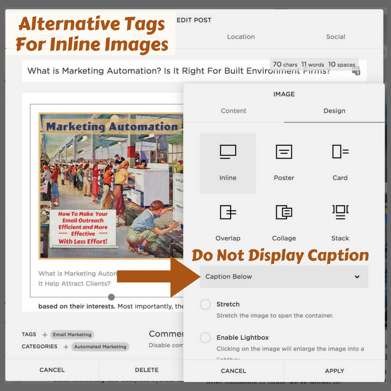 How To Add Image Alternative Tags on Squarespace