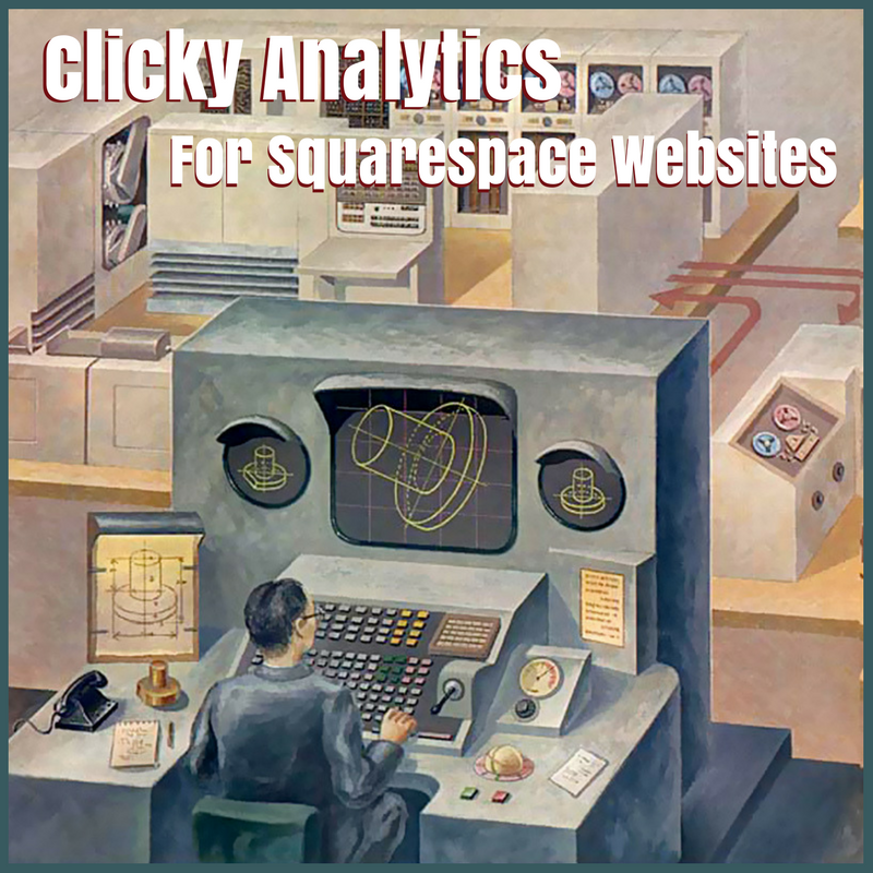 Clicky Analytics For Squarespace Websites