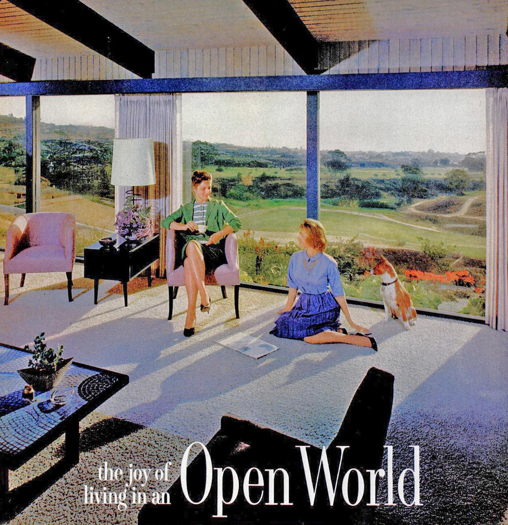 This 1961 Home Improvement advertisement illustrates that value of typography when used together with architectural photography