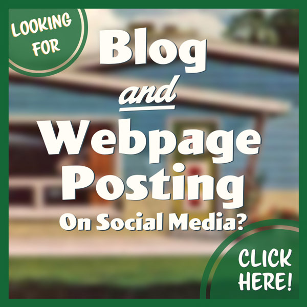 Blog article and webpage posting on social media
