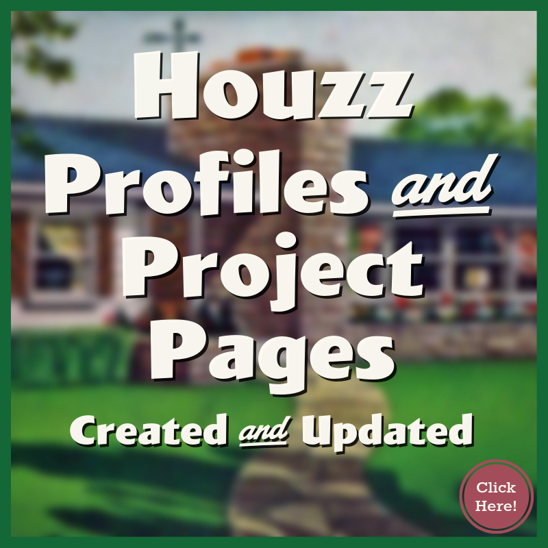 Houzz Profiles and Project Pages Created
