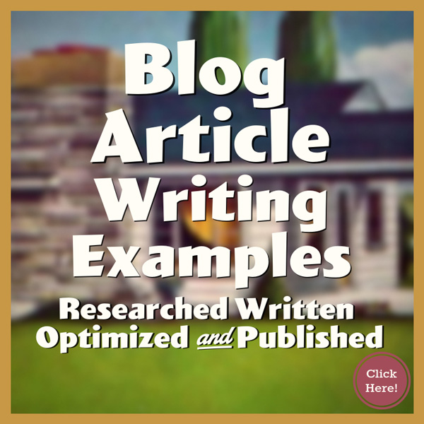 Blog Article Writing Examples