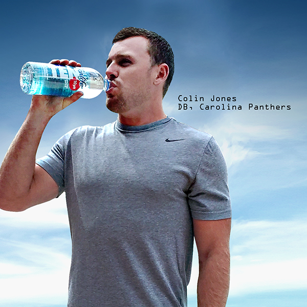 "Colin Jones, Defensive Back, Carolina Panthers    ""TEN has great taste and ultimate hydration. Whenever I'm training for an upcoming season TEN is the only choice I make."""