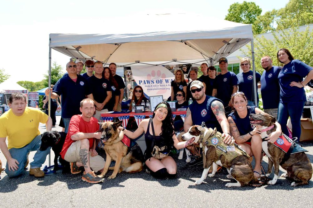 Volunteering with us changes the lives of our veterans, their families, and rescued dogs! -
