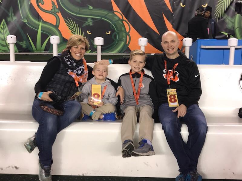 Barlow Family at Bengals Game