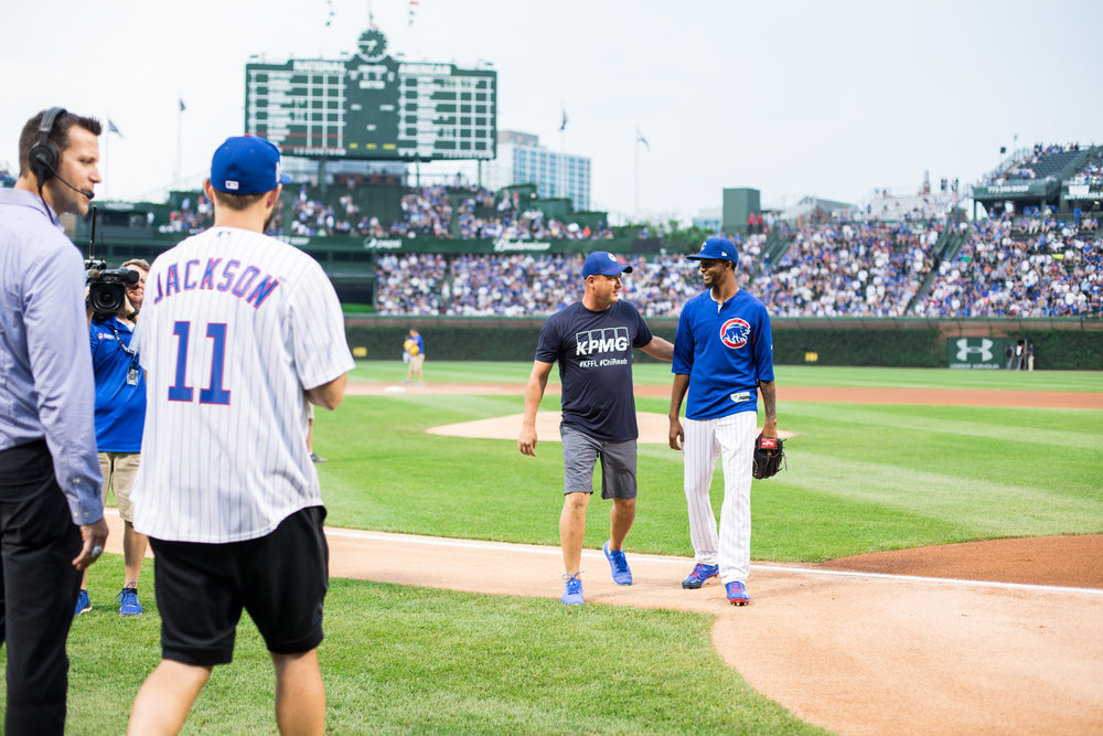 KPMG summer employee outing with The Chicago Cubs.