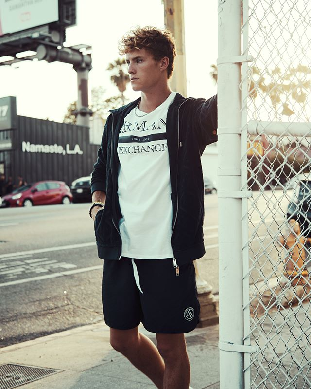 Good to be back in LA! City street style in @ArmaniExchange #AXundressed
