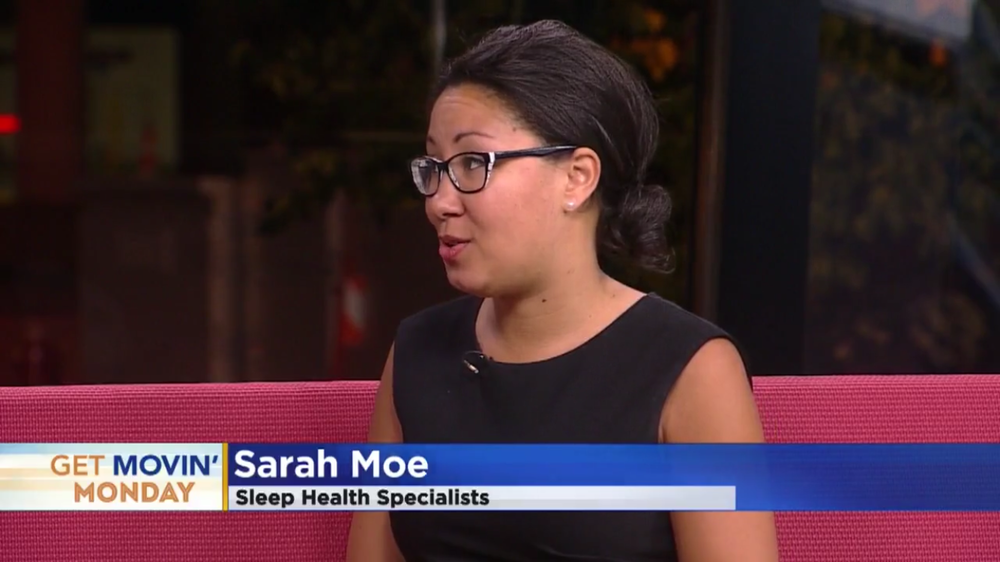 """Click here to watch our ceo sarah moe, rpsgt discuss sleep deprivation on wcco's """"get movin' monday"""" segment."""