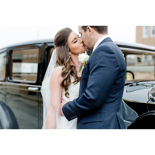 """ Can I borrow a kiss? I promise to give it back 💋"" Makeup by Adriana// Hair by Jenine// Photo by Rebecca Albaugh// Beautiful Bride Kelly @kellyperisin #weddingdaykisses#tamaramakeupandhairartistry"