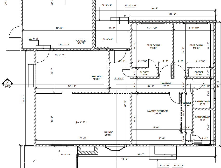 2D Architectural Plans - Delivered in PDF or DWG