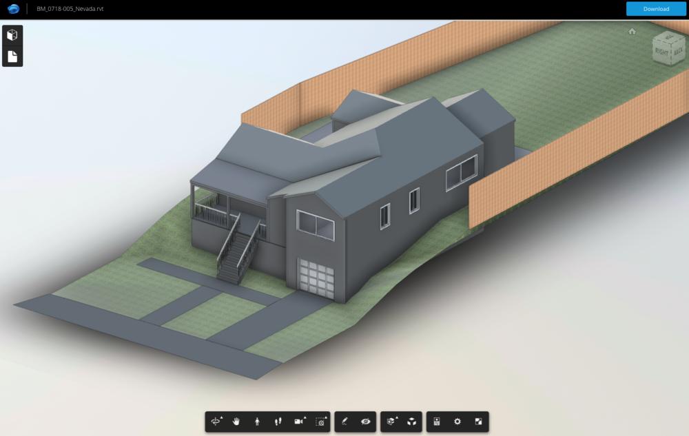 3D Building Model (BIM) - Delivered in Revit via web viewer