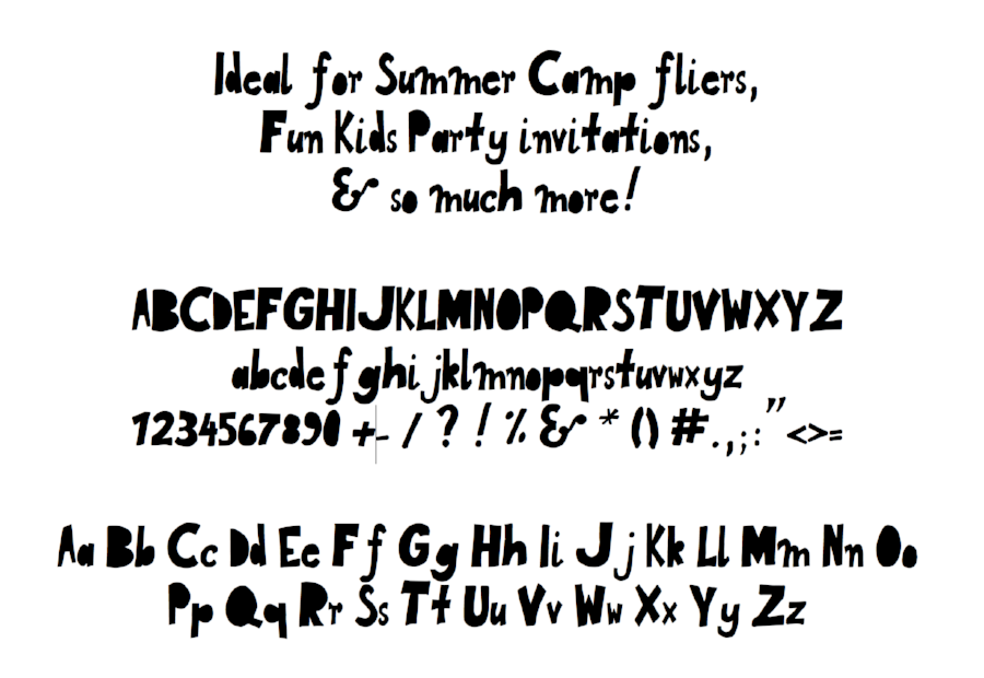 Fun Blocks Font, designed in the Birdfont app