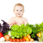 baby w fruits & veg