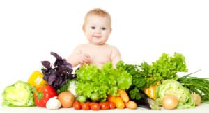 baby w fruits & veg