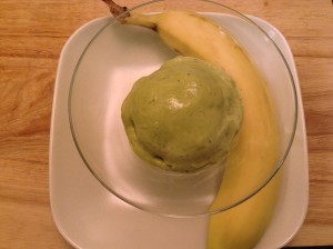 Matcha banana ice cream