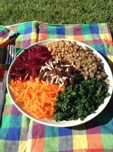 lentil farro salad_medmed