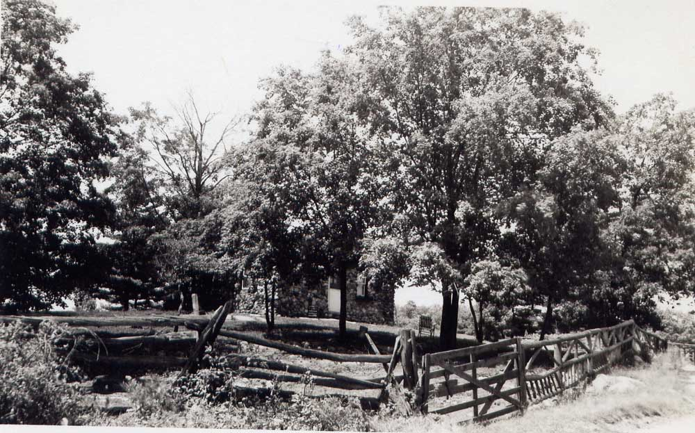 The Cobblestone property from the road, about 1950.