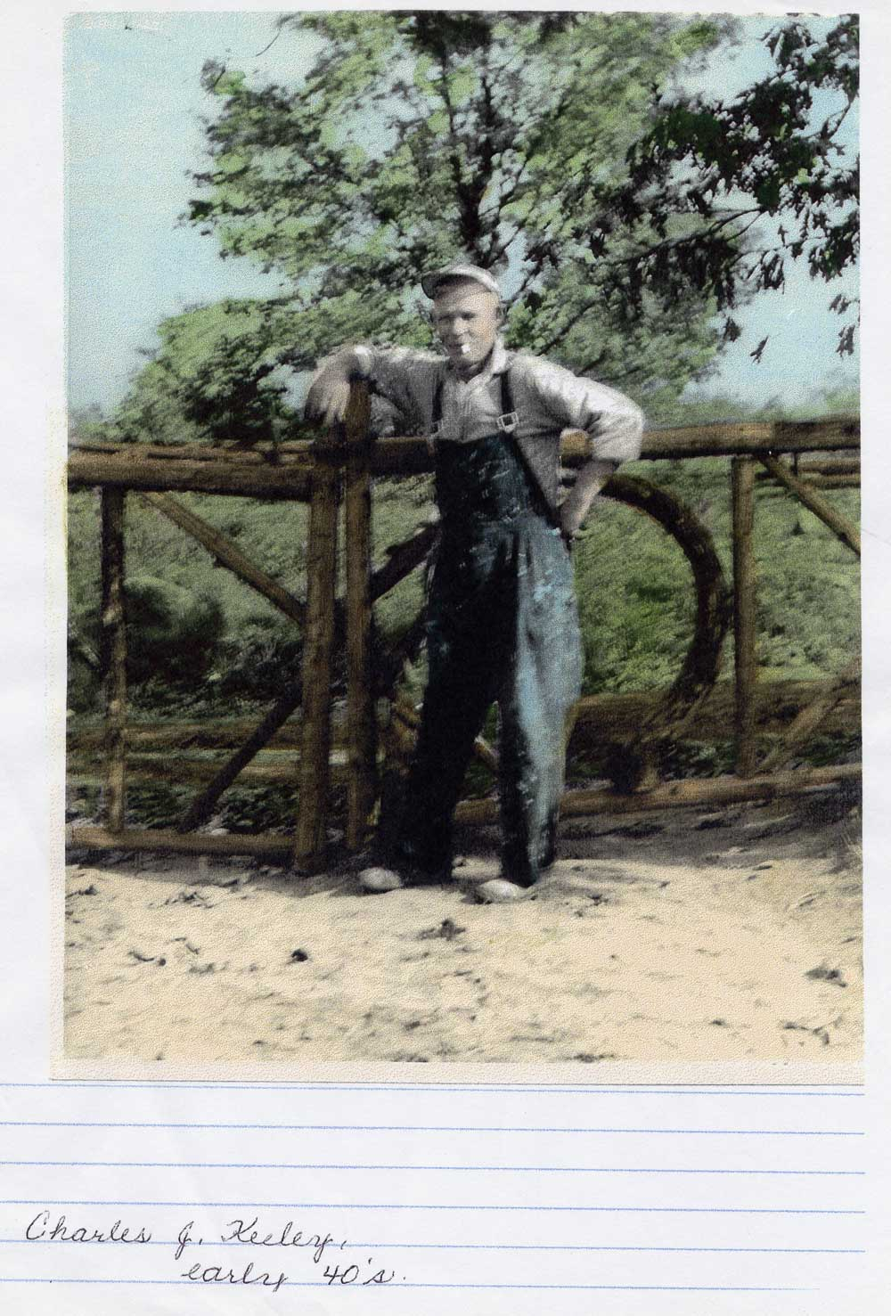 The builder, Charles Keeley, early 1940's. The property was originally known as Keeley's Landing.