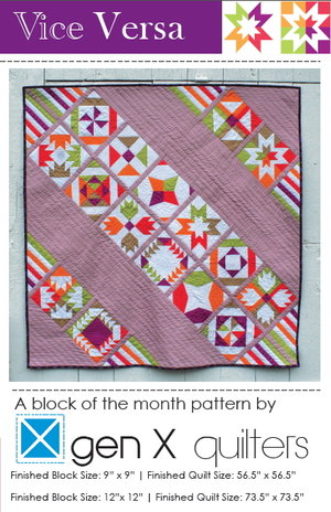 VICE VERSA BLOCK OF THE MONTH SAMPLER Quilt Pattern PDF Download Magnificent Block Of The Month Quilt Patterns