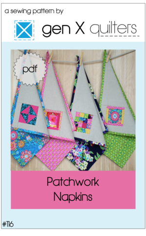 Patchwork Napkins Sewing Pattern - PDF Download — AnneMarie Chany