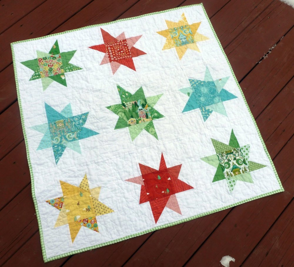 Babys Quilt Charm Pack Wonky Stars Finish Annemarie Chany