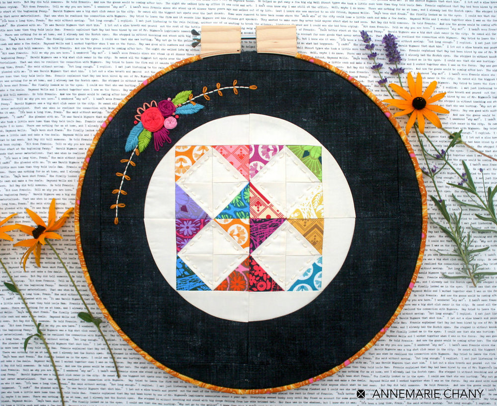 Hoop Quilt Along - Make a mini quilt go ROUND. Based on Hoop Quilts Pattern.