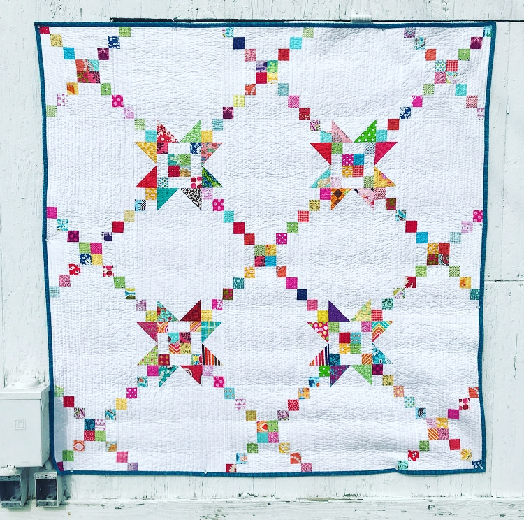 Scrappy Irish Chain Quilt by AnneMarie Chany.jpeg