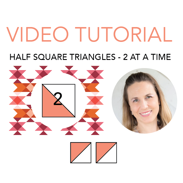 How to Make Half Square Triangle Quilt Blocks 2 at a Time