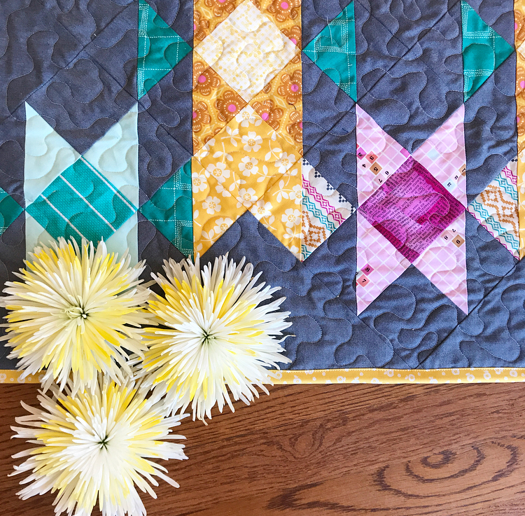 Old Mohawk Quilt Pattern with Chambray Half Square Triangles.jpg