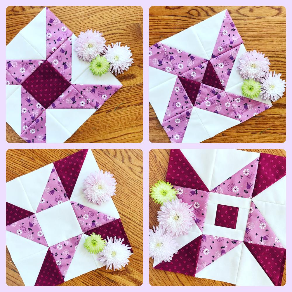 Folk Star Quilt Pattern 4 center Sampler blocks.PNG