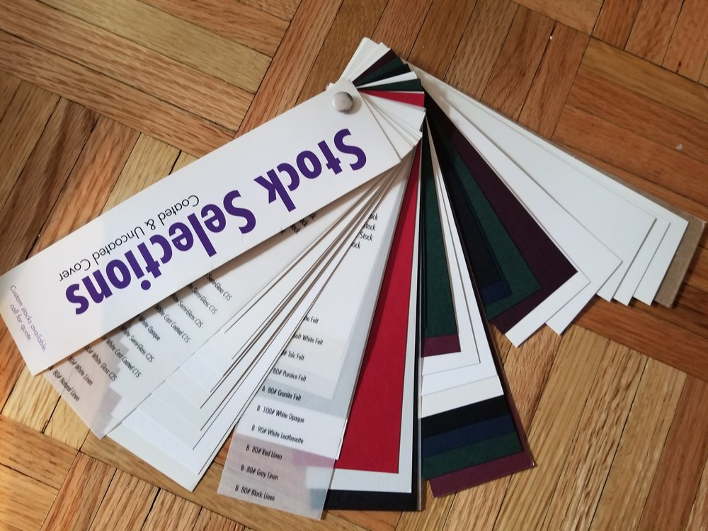 We are experts in consulting on which paper stock best suits your need. Vellum, Linen, Cover Stock, Glossy? We got your covered!