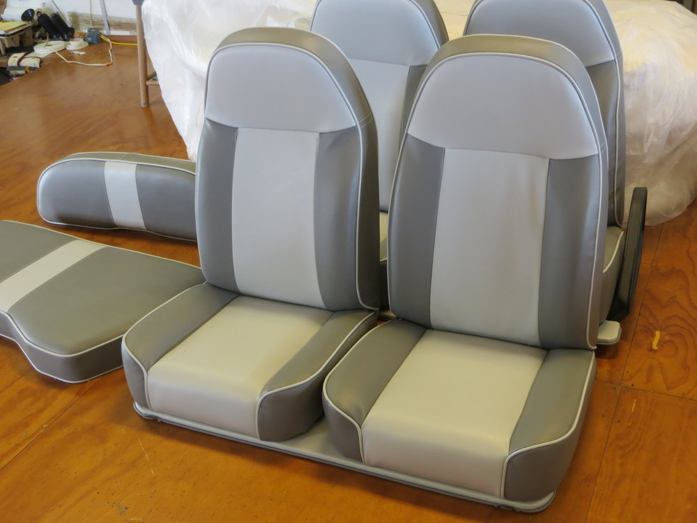 Golf Car Upholstery Before Installation.JPG