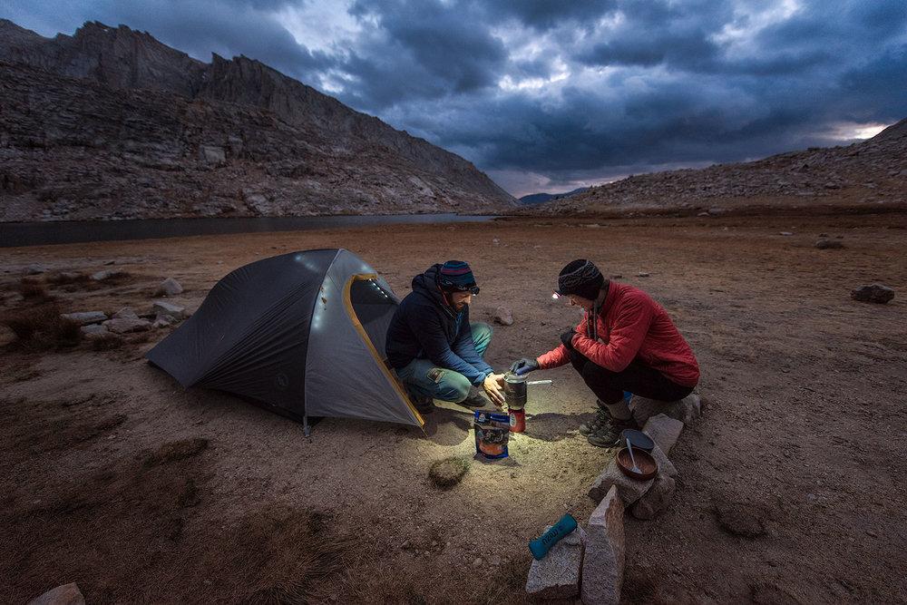 austin-trigg-big-agnes-tent-john-muir-trail-camping-Cook-Dinner-Guitar-Lake.jpg