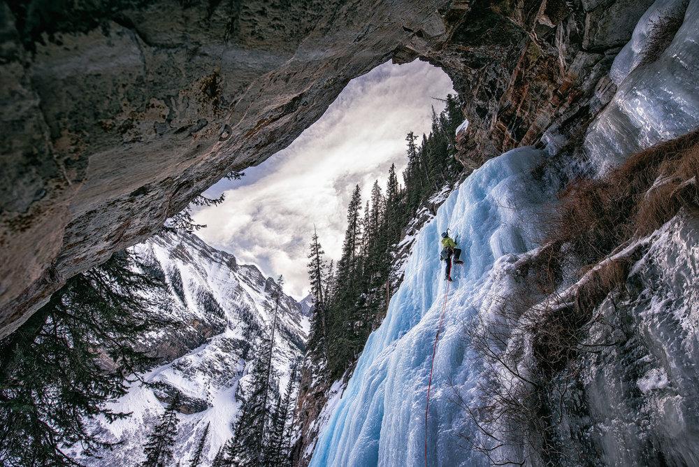austin trigg ice climbing lake louise falls
