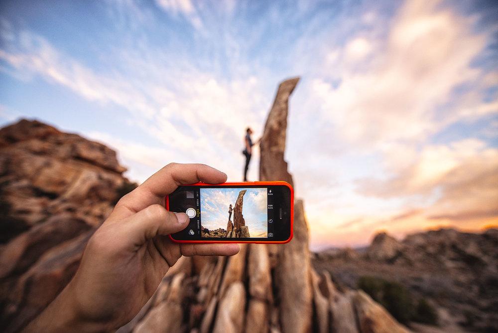 austin-trigg-joshua-tree-national-park-rock-climb-Aiguille-cell-phone-case-sunset.jpg