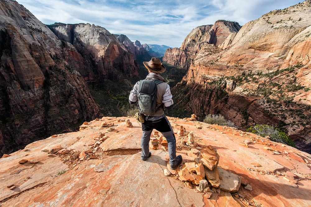 austin-trigg-brave-wilderness-utah-zion-Coyote-peterson-Angels-Landing-looking.jpg