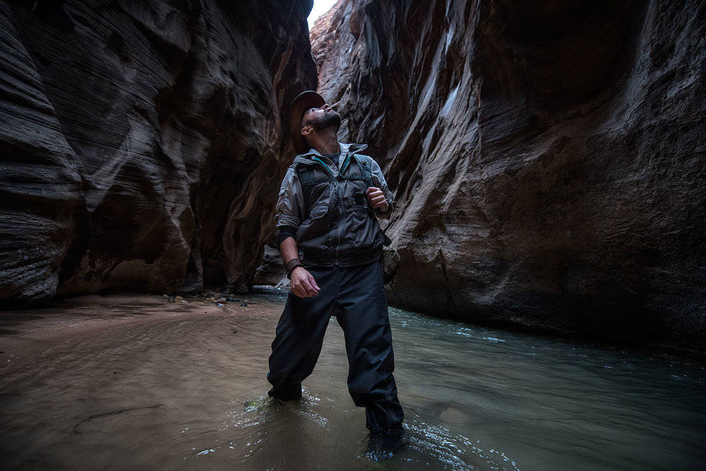 austin-trigg-brave-wilderness-utah-zion-Coyote-peterson-Hears-Noise-The-Narrows-river-canyon.jpg