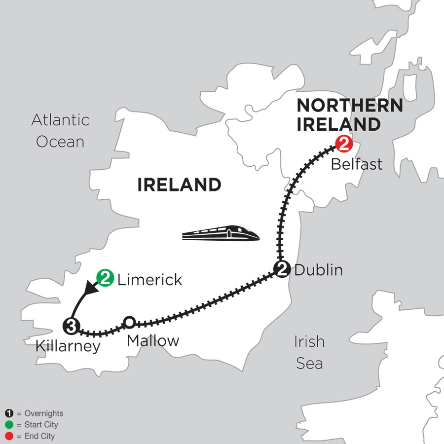 "STARTING AT $1,766 - We've made your trip to Ireland easy by handling the details for you, so you'll likely be so happy you'll want to greet everyone you pass—not just with ""Top o' the mornin' to ya,"" but with ""Top o' the day"" and ""Top o' the night."" On this 10-day vacation, we've arranged your hotel reservations, transportation between cities, sightseeing, and daily breakfast. Plus, you'll have a Local Host® in each city, someone who is there throughout your stays to ensure your vacation runs smoothly and you get the most out of your trip."