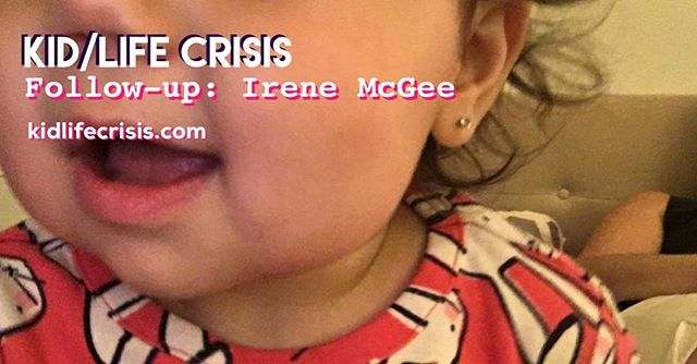 We've got our first follow-up, with episode 15's Irene McGee! (Photo credit: baby Renie.) Find out how she's handling motherhood, division of labor, and being in a blended family. kidlifecrisis.com or iTunes #linkinbio . . . . . . . . #podcast #parenting #parentlife #momlife #babytalk #kidlifecrisis #kidlife #moms #selfie