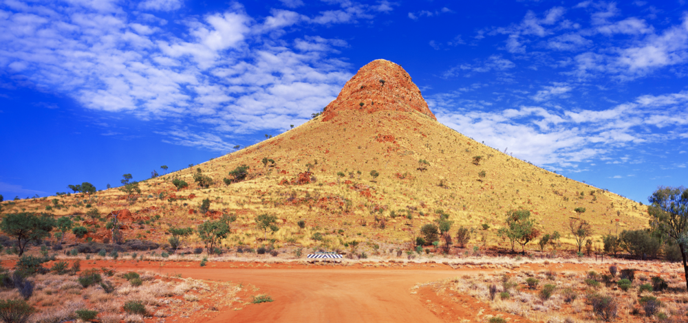 This is Memory Mountain almost at the exact geographic centre of mainland Australia.