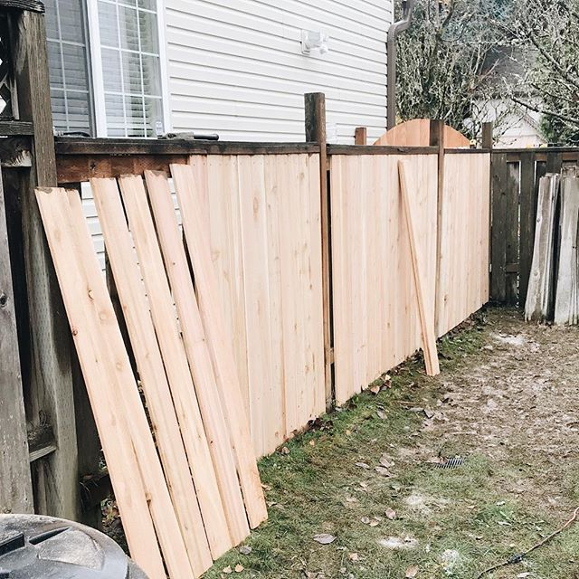 Fence project details are up on the blog! Go read and check out how (and why) we replaced all of our fence panels in one day 💪🏻. #linkinbio #bloggerlife #blogger #blog #modernfarmhouse #pdx #remodel #remodeling #fence #cedarfence #diy