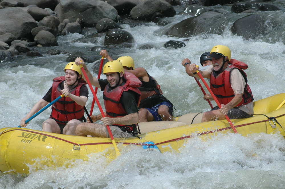 Rafting at the Pacuare by  Chadica