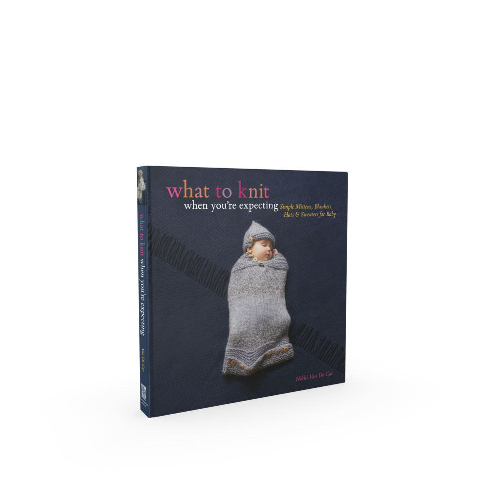 What To Knit When You're Expecting - Once you've got a handle on your delivery from the stork, flip through this adorable assortment of 30 knitting projects for the bundle of joy. The projects range from first trimester projects (which are moderately advanced, since there are months to finish) to second trimester (when most parents can determine the baby's gender and prepare for a boy or girl), to third trimester quickies, when time is short. The booties, bibs, toys, blankets, and clothing will be one-of-a-kind items, fit to welcome a special person into the world. Available here.