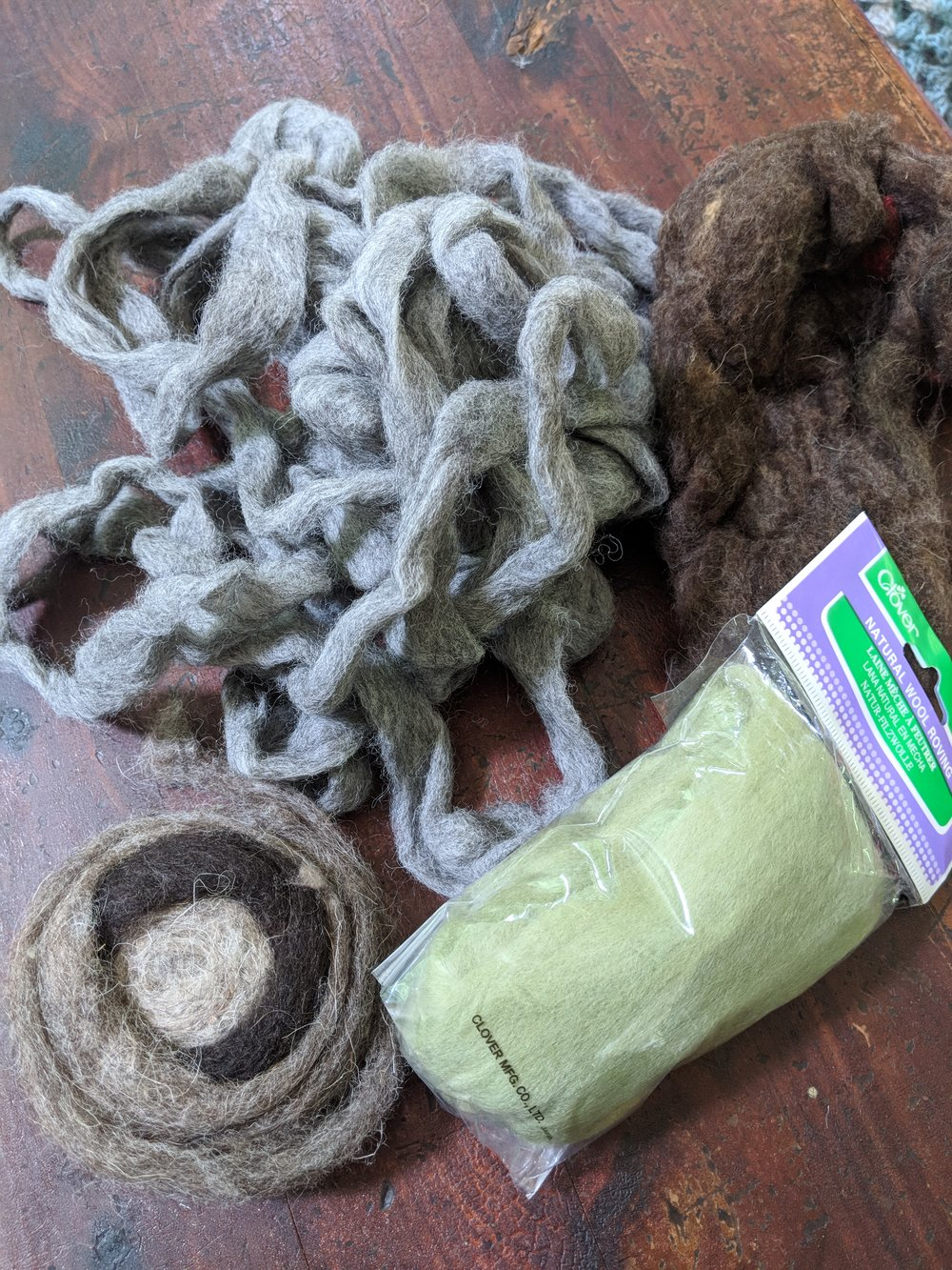 - You also have options when it comes to wool. Roving is sold in small packages at craft stores like Michael's, but you can also frequently find some at your local farmer's market.