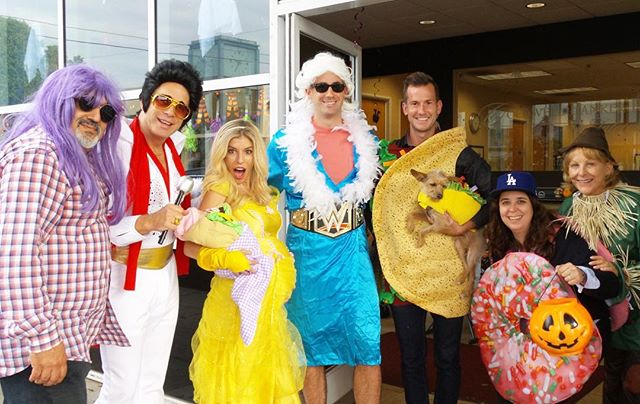 Look who stopped by our office at this year's annual Halloween Hop! Thanks to all of our neighbors for making this year's event a big success! #elvis #belle #natureboy #tacodog #tacobaby #thedonutlady #scarecrow #halloween #halloweenhop #montanaave #realestate #nowhomes #coldwellbanker #tbt