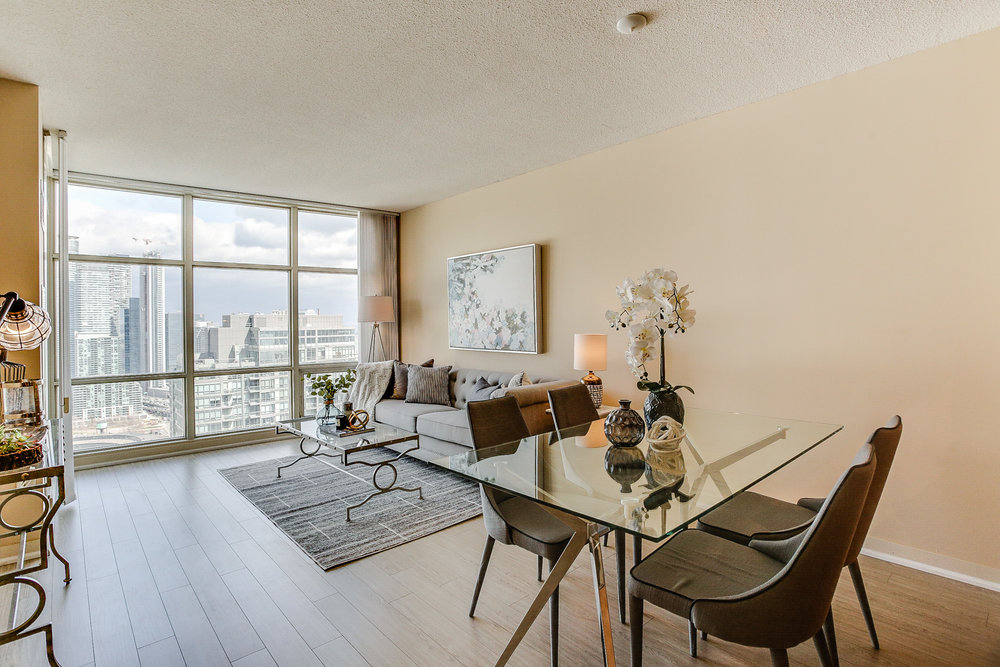 Mariner Terrace Toronto vacant condo staging condo home stager | Classy Glam Staging 5