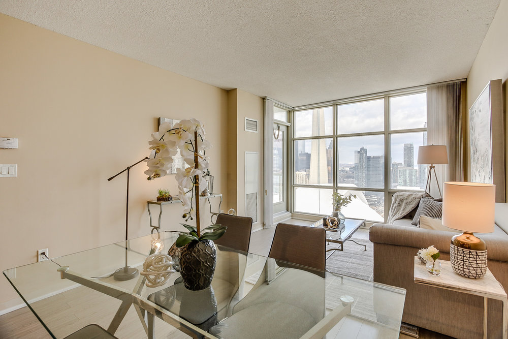 Mariner Terrace Toronto vacant condo staging condo home stager | Classy Glam Staging 7