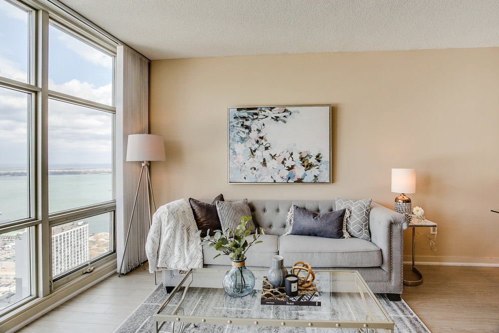 Mariner Terrace Toronto vacant condo staging condo home stager | Classy Glam Staging 11