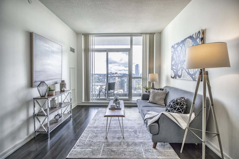 Emerald City II Toronto GTA North York vacant condo staging home stager | Classy Glam Staging 2